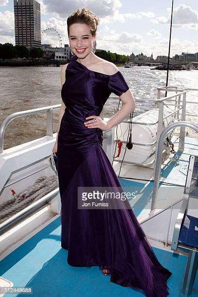 COVERAGE** Actress Anna Popplewell arrives by boat to the UK Premiere of The Chronicles of Narnia Prince Caspian at the O2 Dome in North Greenwich on...