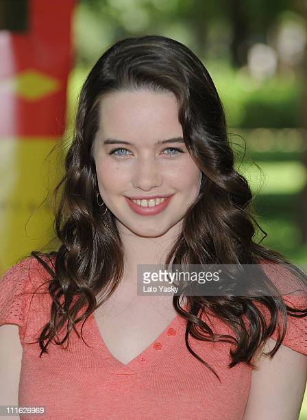 Actress Anna Popplewell attends 'The Chronicles of Narnia Prince Caspian' photocall at Retiro Park on June 30 2008 in Madrid Spain