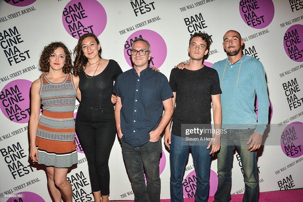 Actress Anna Rose Hopkins, Alexandra Beyer, Tim Sutton, Robert Jumper and Eddie Cacciola attends BAMcinemaFest 2016 - 'Dark Night' Closing Night Screening at BAM Harvey Theater on June 25, 2016 in New York City.