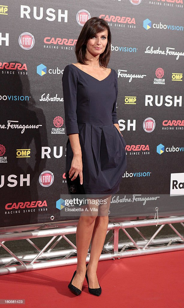 Actress Anna Safroncik attends the 'Rush' premiere at Auditorium della Conciliazione on September 14, 2013 in Rome, Italy.
