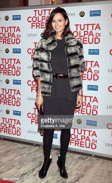 Actress Anna Safroncik attends 'Tutta colpa di Freud' premiere at Teatro dell'Opera on January 20 2014 in Rome Italy