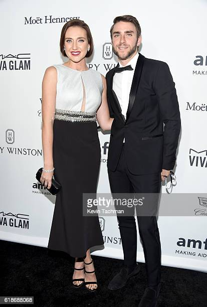 Actress Anna Schafer and producer Peter Schafer attend amfAR's Inspiration Gala at Milk Studios on October 27 2016 in Hollywood California