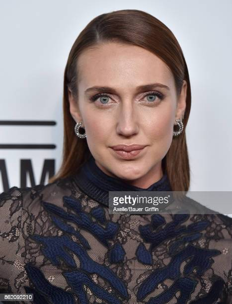 Actress Anna Schafer arrives at amfAR Los Angeles 2017 at Ron Burkle's Green Acres Estate on October 13 2017 in Beverly Hills California