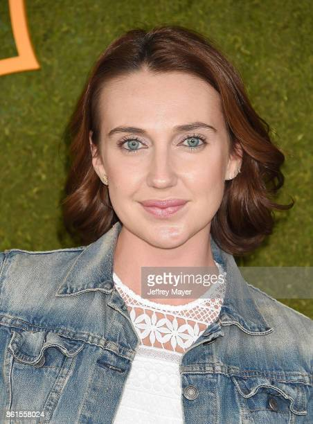 Actress Anna Schafer attends the 8th Annual Veuve Clicquot Polo Classic at Will Rogers State Historic Park on October 14 2017 in Pacific Palisades...