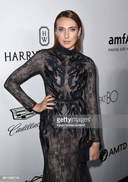 Actress Anna Schafer attends the amfAR Gala Los Angeles 2017 at Ron Burkle's Green Acres Estate on October 13 2017 in Beverly Hills California