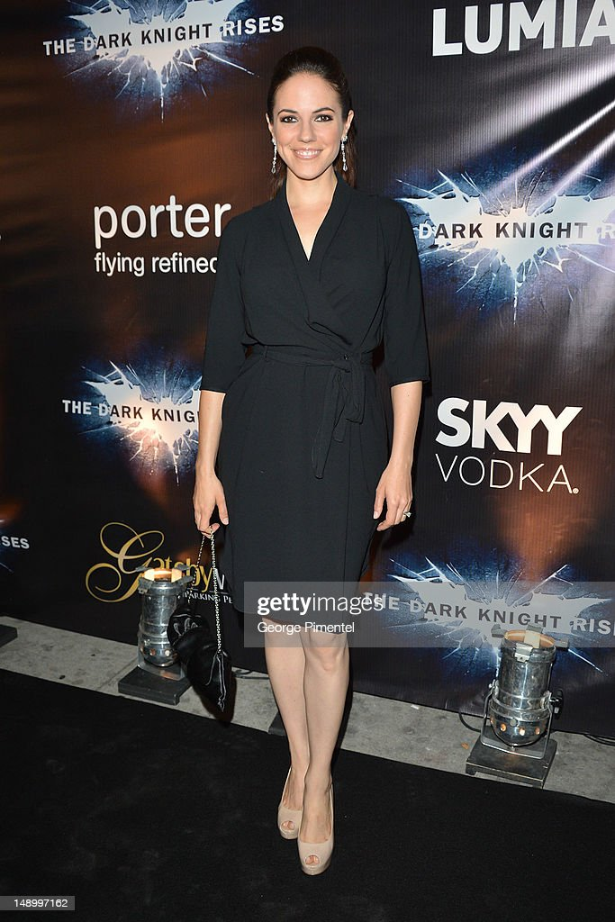 Actress Anna Silk attends the after party for The Canadian Premiere of 'The Dark Knight Rises' at One King West on July 18, 2012 in Toronto, Canada.