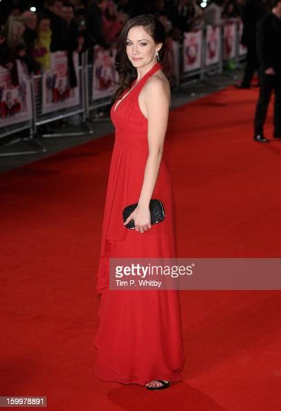 Actress Anna Skellern attends the UK Premiere of 'I Give It A Year' at the Vue West End on January 24 2013 in London England