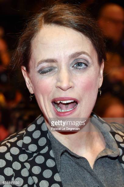 Actress Anna Thalbach attends the 'Django' premiere during the 67th Berlinale International Film Festival Berlin at Berlinale Palace on February 9...