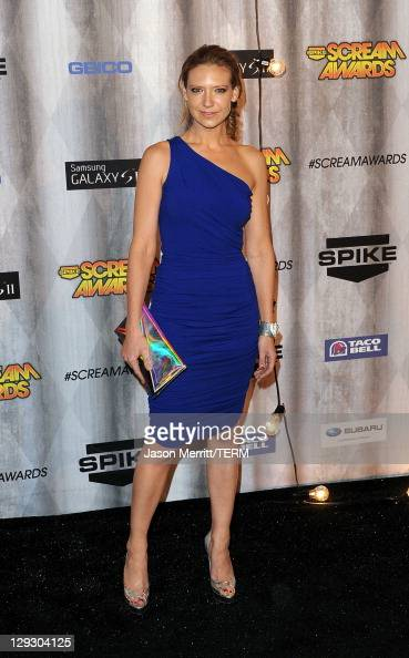 Actress Anna Torv arrives at Spike TV's 'SCREAM 2011' awards held at Universal Studios on October 15 2011 in Universal City California