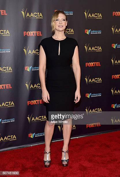 Actress Anna Torv attends the 5th AACTA International Awards at Avalon Hollywood on January 29 2016 in Los Angeles United States