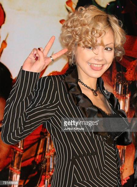 Actress Anna Tsuchiya attends a press conference promoting the new film 'Sakuran' on January 30 2007 in Tokyo Japan Sakuran is included in the...