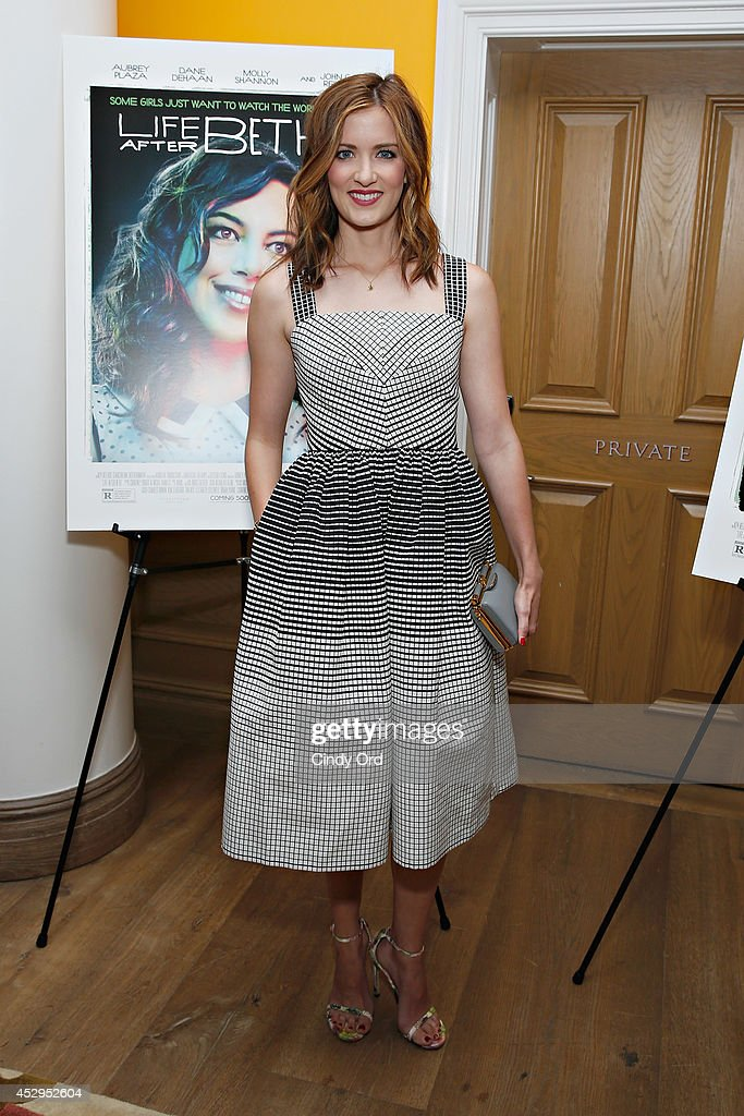 Actress <a gi-track='captionPersonalityLinkClicked' href=/galleries/search?phrase=Anna+Wood&family=editorial&specificpeople=6911245 ng-click='$event.stopPropagation()'>Anna Wood</a> attends the 'Life After Beth' New York Screening at Crosby Street Hotel on July 30, 2014 in New York City.