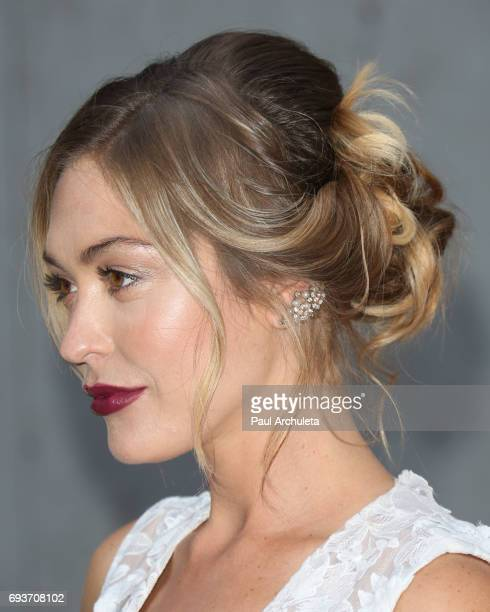 Actress Annabelle Stephenson Hair Detail attends the premiere of 'Pray For Rain' at ArcLight Hollywood on June 7 2017 in Hollywood California
