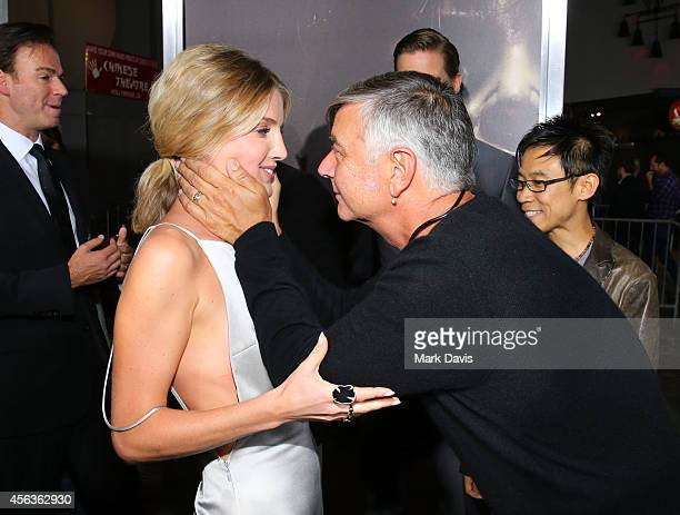 Actress Annabelle Wallis and director John R Leonetti attend the screening of New Line Cinema's 'Annabelle' held at the TCL Chinese Theatre on...