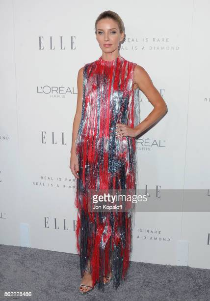 Actress Annabelle Wallis arrives at ELLE's 24th Annual Women in Hollywood Celebration at Four Seasons Hotel Los Angeles at Beverly Hills on October...