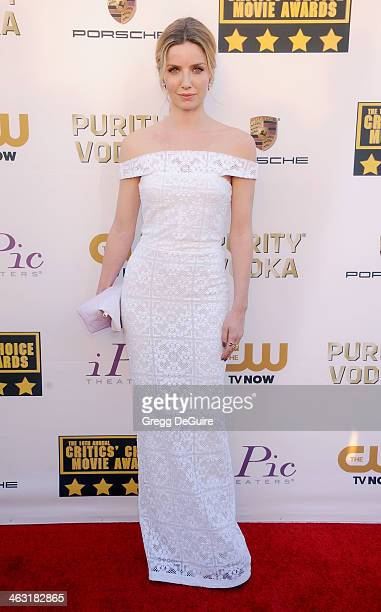 Actress Annabelle Wallis arrives at the 19th Annual Critics' Choice Movie Awards at Barker Hangar on January 16 2014 in Santa Monica California