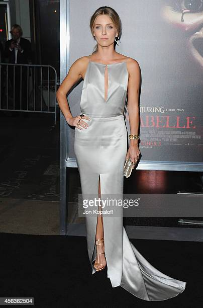Actress Annabelle Wallis arrives at the Los Angeles Premiere 'Annabelle' at TCL Chinese Theatre on September 29 2014 in Hollywood California