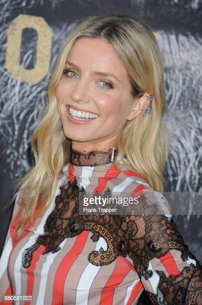 Actress Annabelle Wallis arrives at the premiere of Warner Bros Pictures' 'King Arthur Legend Of The Sword' at TCL Chinese Theatre on May 8 2017 in...