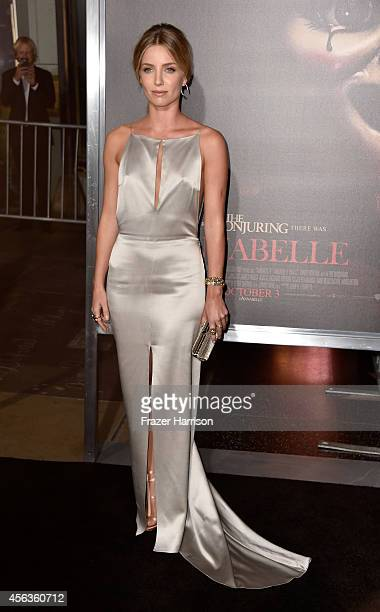 Actress Annabelle Wallis arrives at the screening Of New Line Cinema's 'Annabelle' at TCL Chinese Theatre on September 29 2014 in Hollywood California