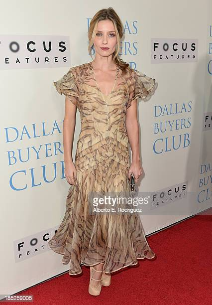 Actress Annabelle Wallis attends Focus Features' 'Dallas Buyers Club' premiere at the Academy of Motion Picture Arts and Sciences on October 17 2013...