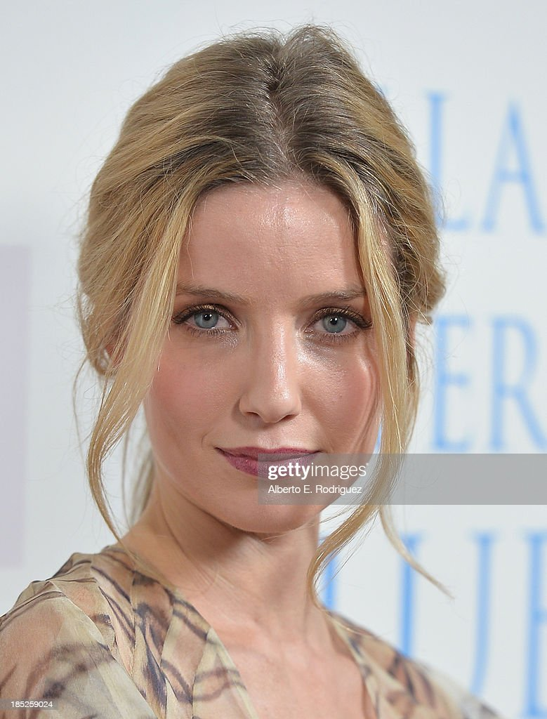 Actress Annabelle Wallis attends Focus Features' 'Dallas Buyers Club' premiere at the Academy of Motion Picture Arts and Sciences on October 17, 2013 in Beverly Hills, California.