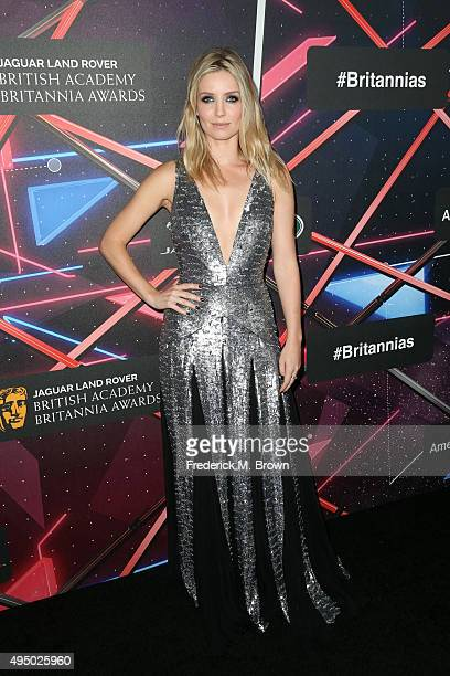 Actress Annabelle Wallis attends the 2015 Jaguar Land Rover British Academy Britannia Awards presented by American Airlines at The Beverly Hilton...