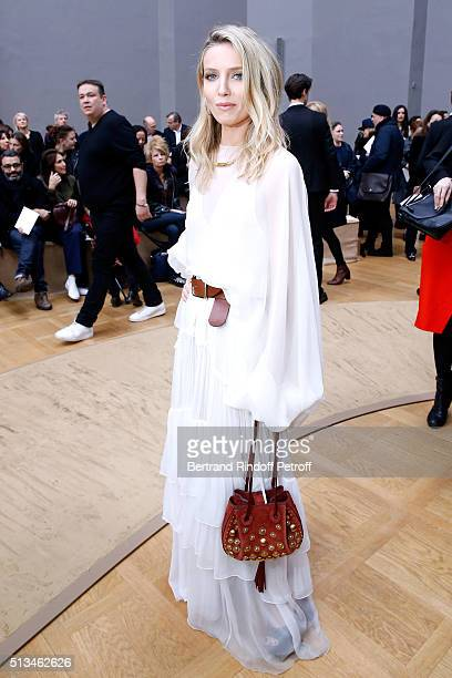 Actress Annabelle Wallis attends the Chloe show as part of the Paris Fashion Week Womenswear Fall/Winter 2016/2017 Held at Grand Palais on March 3...
