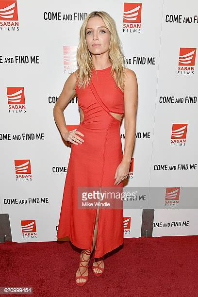 Actress Annabelle Wallis attends the premiere of Saban Films' 'Come And Find Me' at Pacific Theatre at The Grove on November 3 2016 in Los Angeles...