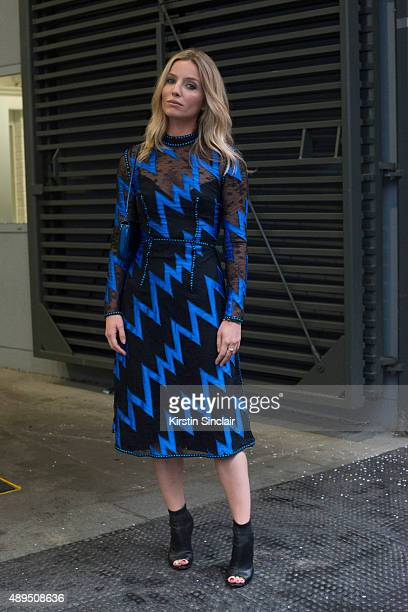 Actress Annabelle Wallis wears all Christopher Kane on day 4 during London Fashion Week Spring/Summer 2016/17 on September 21 2015 in London England