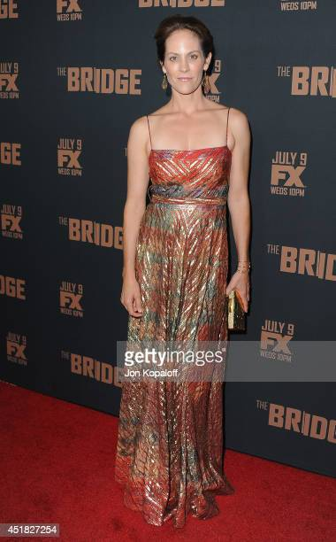 Actress Annabeth Gish arrives at the FX's 'The Bridge' Season 2 Premiere at Pacific Design Center on July 7 2014 in West Hollywood California