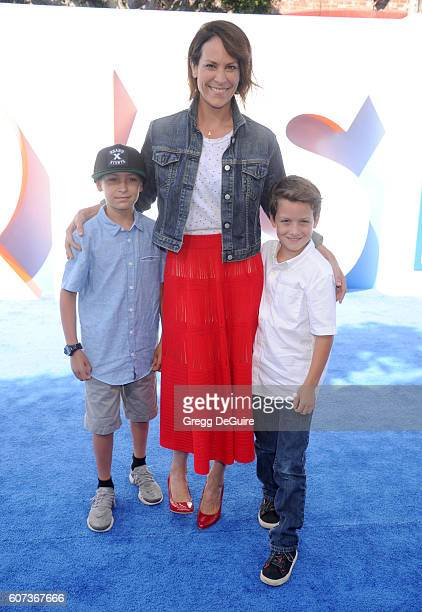 Actress Annabeth Gish arrives at the premiere of Warner Bros Pictures' 'Storks' at Regency Village Theatre on September 17 2016 in Westwood California