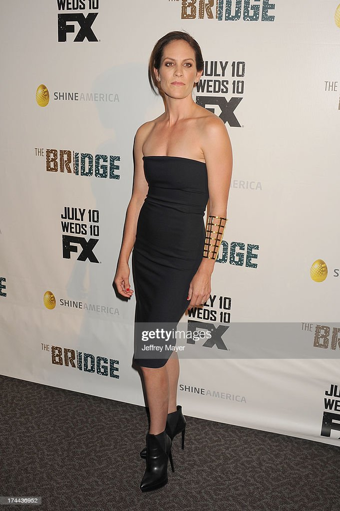 Actress Annabeth Gish arrives at the Series Premiere Of FX's 'The Bridge' at DGA Theater on July 8, 2013 in Los Angeles, California.