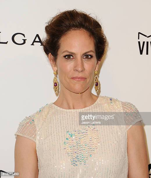 Actress Annabeth Gish attends the 24th annual Elton John AIDS Foundation's Oscar viewing party on February 28 2016 in West Hollywood California