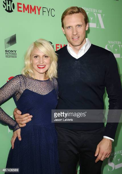 Actress Annaleigh Ashford and actor Teddy Sears attend Showtime's 'Masters Of Sex' special screening and panel discussion at Leonard H Goldenson...