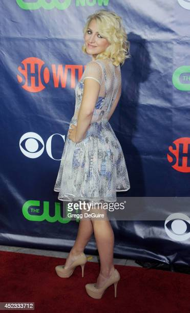 Actress Annaleigh Ashford arrives at the 2014 Television Critics Association Summer Press Tour CBS CW And Showtime Party at Pacific Design Center on...