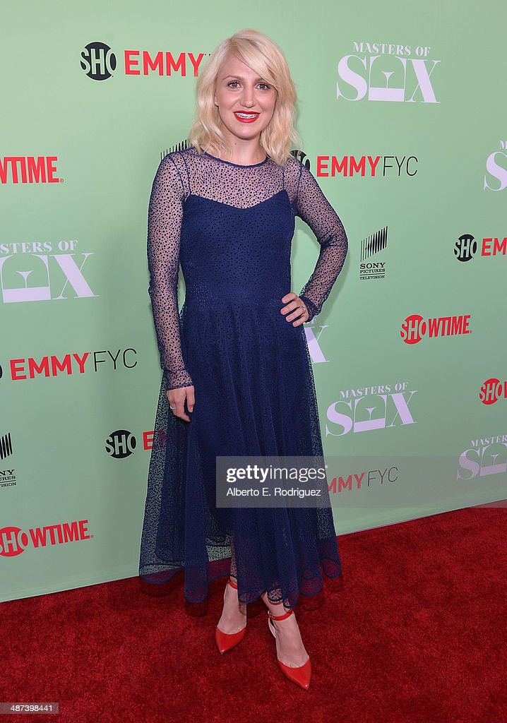 Actress <a gi-track='captionPersonalityLinkClicked' href=/galleries/search?phrase=Annaleigh+Ashford&family=editorial&specificpeople=4268366 ng-click='$event.stopPropagation()'>Annaleigh Ashford</a> arrives to an exclusive conversation with the cast of Showtime's 'Masters Of Sex' at Leonard H. Goldenson Theatre on April 29, 2014 in North Hollywood, California.