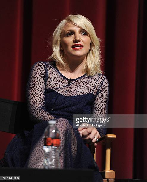 Actress Annaleigh Ashford attends an exclusive panel discussion with the cast of Showtime's 'Masters of Sex' at the Leonard H Goldenson Theatre on...