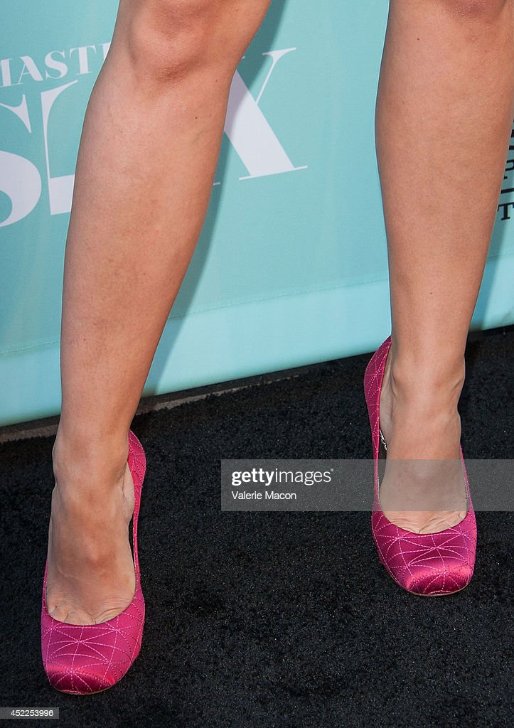 Actress Annaleigh Ashford (shoe detail) attends Showtime's 'Masters Of Sex' Season 2 - 2014 Summer TCA Press Tour Event at Sony Pictures Studios on July 16, 2014 in Culver City, California.