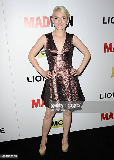 Actress Annaleigh Ashford attends the season 7 premiere of 'Mad Men' at ArcLight Cinemas on April 2 2014 in Hollywood California