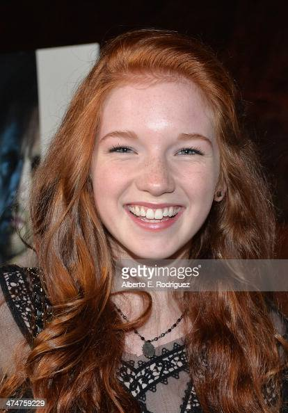 Actress Annalise Basso attends a screening of Sundance Channel's 'The Red Road' at The Bronson Caves at Griffith Park on February 24 2014 in Los...