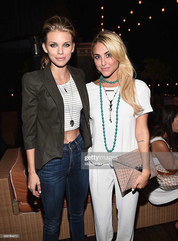 Actress AnnaLynne McCord and actress Cassandra Scerbo attend the 3rd Annual Summer Soiree at Petit Ermitage Hotel on August 17 2014 in West Hollywood...
