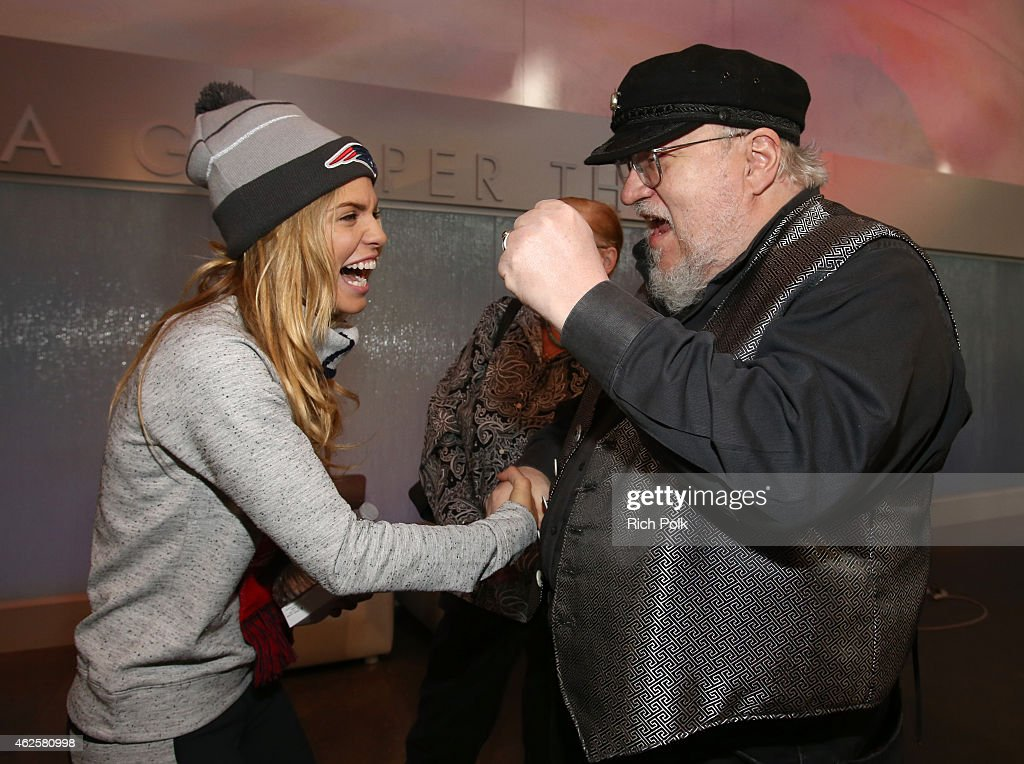 Actress AnnaLynne McCord and novelist George RR Martin attend the Kia Luxury Lounge presented by ZIRH at the Scottsdale Center for Performing Arts on...