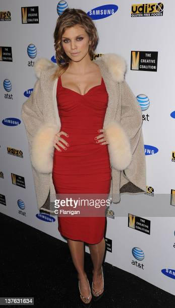Actress AnnaLynne McCord arrives at the Creative Coalition's Annual Spotlight Initiative Awards Gala Dinner during the 2012 Sundance Film Festival on...