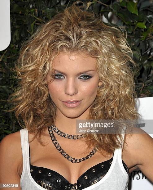Actress AnnaLynne McCord arrives at the Launch of Season 2 of '90210' hosted by NIKE and The CW at The Ricardo Montalban Theatre on September 1 2009...