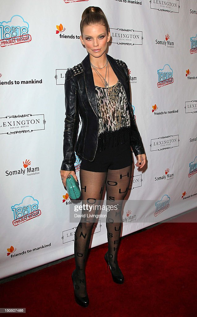 Actress AnnaLynne McCord attends Friends to Mankind's 2nd annual 18 For 18 charity event and fundraiser 'The Jump' benefitting the Somaly Mam Foundation at Lexington Social House on August 19, 2012 in Hollywood, California.