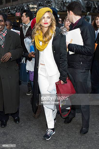 Actress AnnaLynne McCord attends the 2015 International Women's Day March at Dag Hammarskjold Plaza on March 8 2015 in New York City