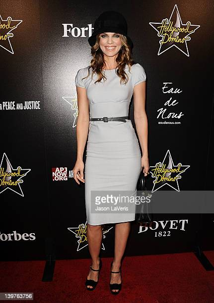Actress AnnaLynne McCord attends the 5th annual Hollywood Domino Gala benefiting Artists For Peace And Justice at Sunset Tower on February 23 2012 in...