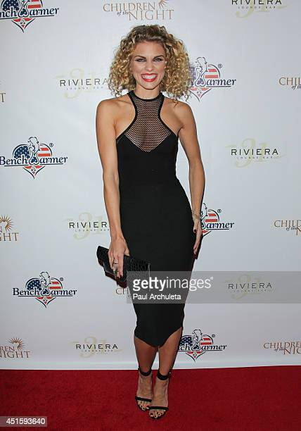 Actress AnnaLynne McCord attends the annual Stars Stripes charity event hosted by Children Of The Night and BenchWarmer's on July 1 2014 in Los...