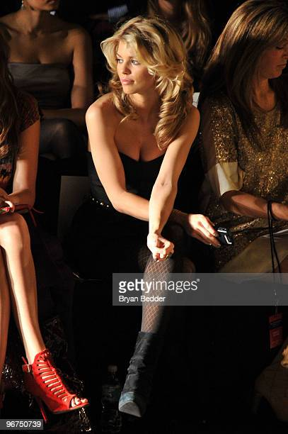 Actress AnnaLynne McCord attends the Badgley Mischka Fall 2010 Fashion Show during MercedesBenz Fashion Week at The Tent at Bryant Park on February...