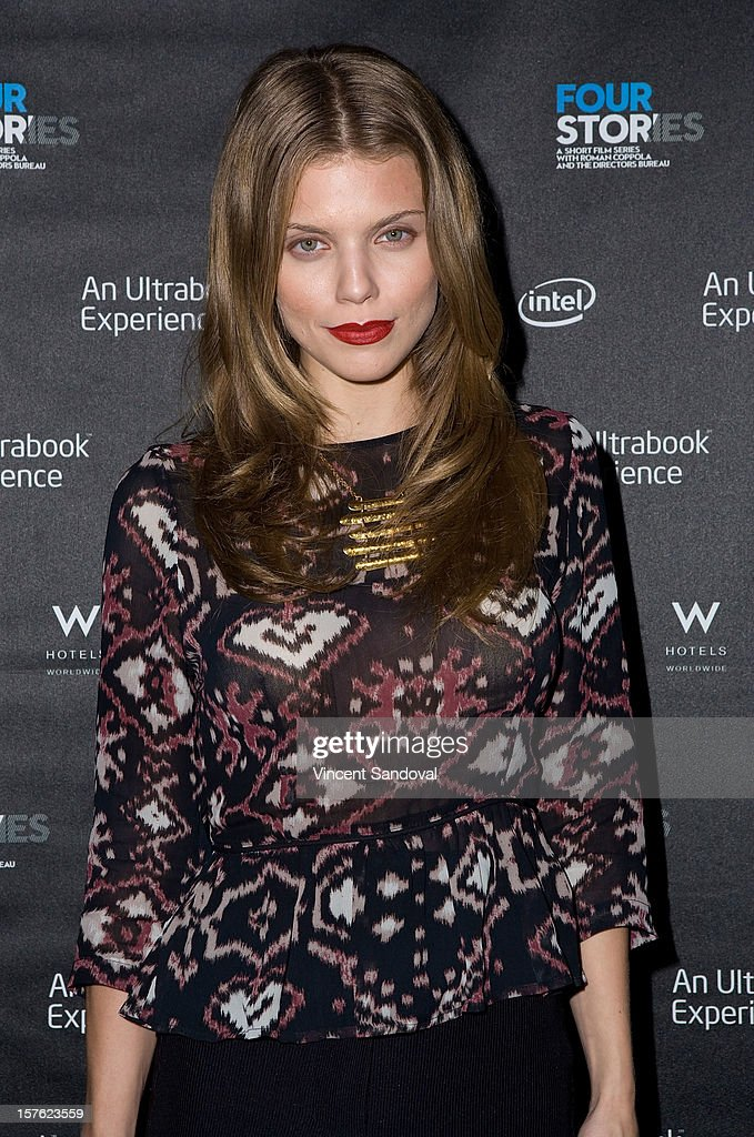 Actress AnnaLynne McCord attends the Los Angeles Premiere of 'Four Stories' at W Westwood on December 4, 2012 in Westwood, California.